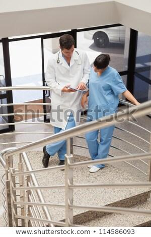 Lekarza xray pielęgniarki szpitala klatka schodowa kobieta Zdjęcia stock © wavebreak_media