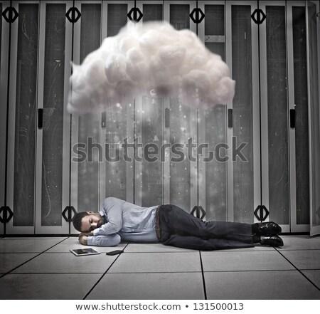 Adam uyku veri merkezi zemin çalışmak ağ Stok fotoğraf © wavebreak_media