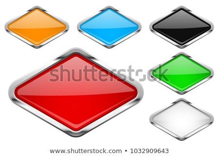 Stock fotó: Színes · fényes · gombok · szett · tükröződés · fehér