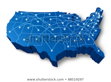U.S.A 3D map communication network  Stock photo © Lightsource