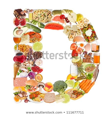 The letter d in various fruits and vegetables Stock photo © Pasiphae