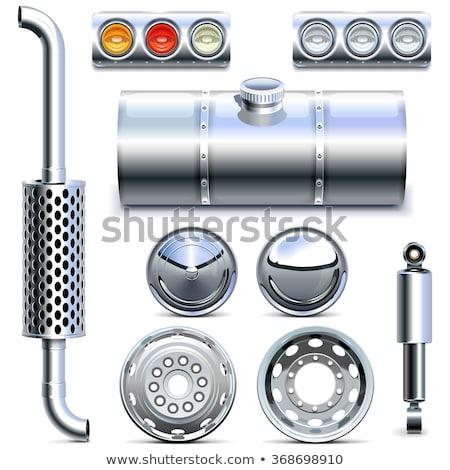 épuiser pipe voiture route technologie métal Photo stock © luckyraccoon