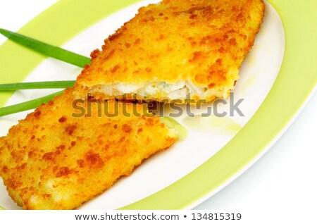 filete · París · mantequilla · servido · hortalizas - foto stock © zhekos