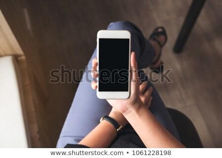 ファッション 女性 手 大腿 セクシー 小さな ストックフォト © feedough