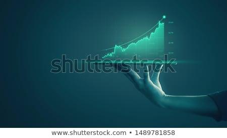 Kâr kelime hedef kâğıt grafik tanıtım Stok fotoğraf © Ansonstock