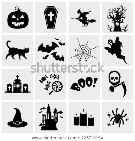 cute · halloween · icônes · japonais · style · sourire - photo stock © genestro