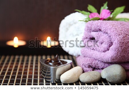 Spa chocolate aromaterapia belleza relajarse blanco Foto stock © joannawnuk