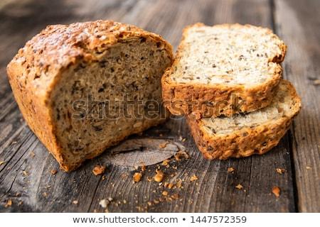 Kenyér teljeskiőrlésű sütemény teljes kiőrlésű kenyér fülek búza Stock fotó © frank11