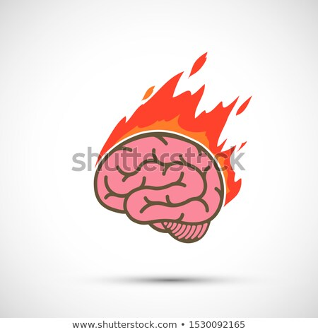Burning brain Stock photo © Vladimir