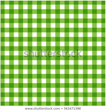 Verde branco toalha de mesa textura comida Foto stock © Zerbor