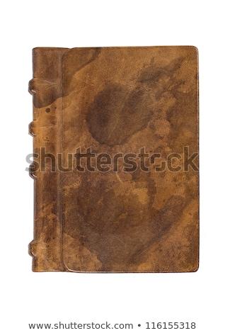 Değerli kitap asil deri kapak kâğıt Stok fotoğraf © Zerbor
