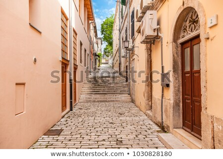 arched windows in ancient house in pula croatia stock photo © anshar