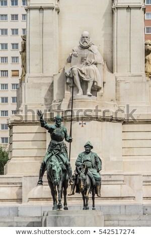 madrid don quijote and sancho panza statue spain stock photo © bertl123
