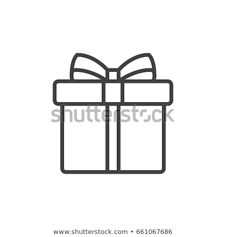 Vector icon gift box Stock photo © zzve