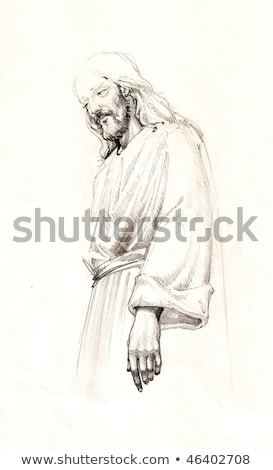 Portrait jesus christ permanent homme art Photo stock © zzve