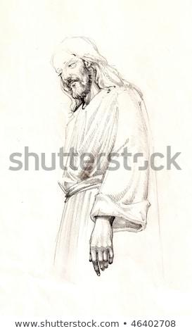 ritratto · Gesù · Cristo · piedi · uomo · arte - foto d'archivio © zzve