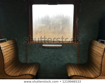 chairs in vintage train stock photo © tarczas