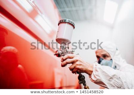 Сток-фото: художника · рабочих · красочный · краской · автомобилей · стороны