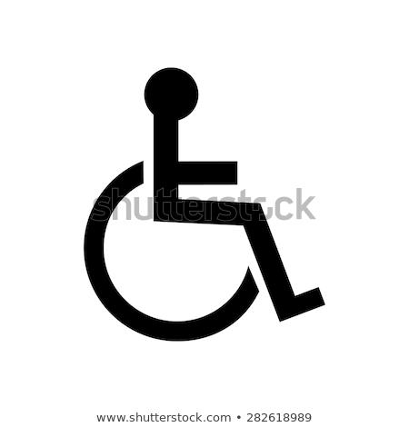 Wózek handicap ikona ulicy projektu szpitala Zdjęcia stock © djdarkflower