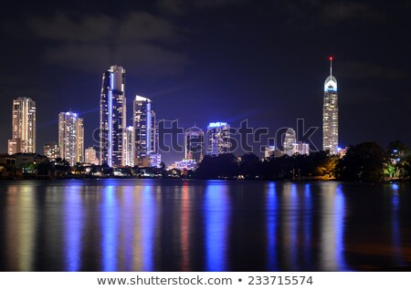 goud · kust · gebouwen · zwarte · lichten - stockfoto © epstock