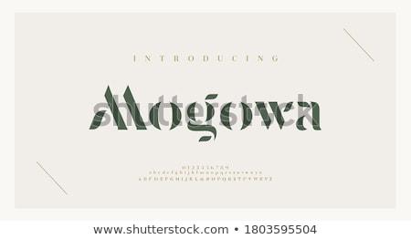 Abstract ABC,green alphabet with leaves Stock photo © Elmiko