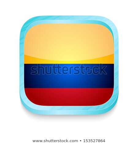 Smart phone button with Columbia flag Stock photo © lirch