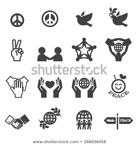 Persone fede mano design segno Foto d'archivio © djdarkflower