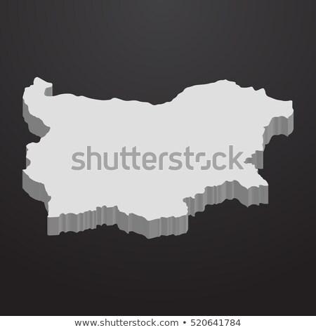 Preto Bulgária mapa administrativo cidade país Foto stock © Volina
