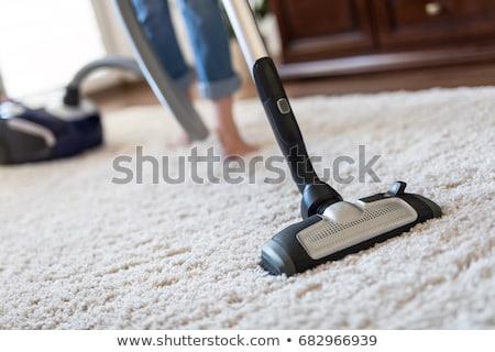 Vide nettoyage bleu aspirateur tapis rouge Photo stock © rogerashford
