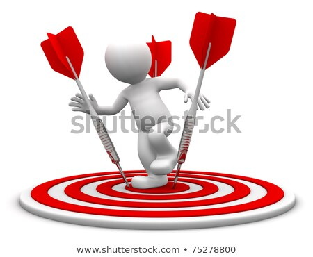 3d character standing on the archery board. Stock photo © Kirill_M