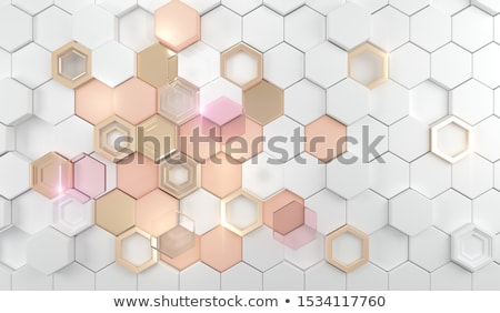 Pink and white hexagonal grid Stock photo © HypnoCreative