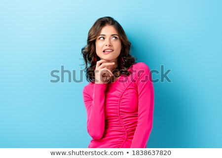 pensive woman biting lips stock photo © diego_cervo