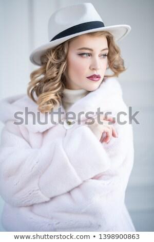 Portre güzel moda kadın kürk Stok fotoğraf © Victoria_Andreas