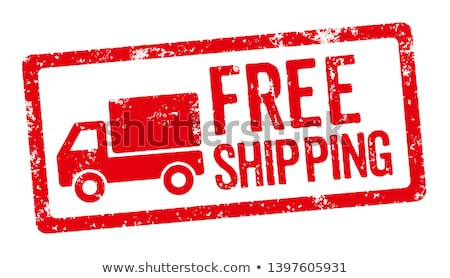 free shipping   red text isolated on white stock photo © tashatuvango