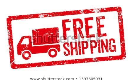 livraison · gratuite · livraison · de · colis · ordre · web · magasin - photo stock © tashatuvango
