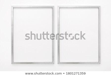 zilver · halftoon · frame · vierkante · textuur - stockfoto © homydesign