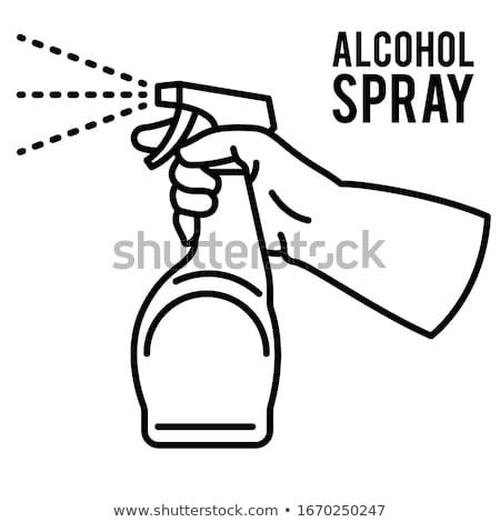 şişe · parfüm · sprey · su · küçük · dikdörtgen · biçiminde - stok fotoğraf © koufax73