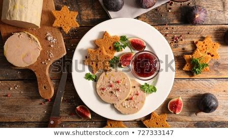 foie gras and gingerbread cake stock photo © m-studio