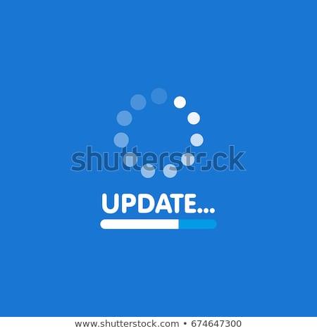 Blue bar software icons Stock photo © SergeyT