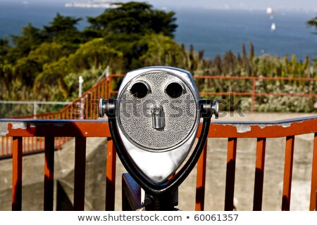 binoculars at the golden gate bridge are formed like a face Stock photo © meinzahn