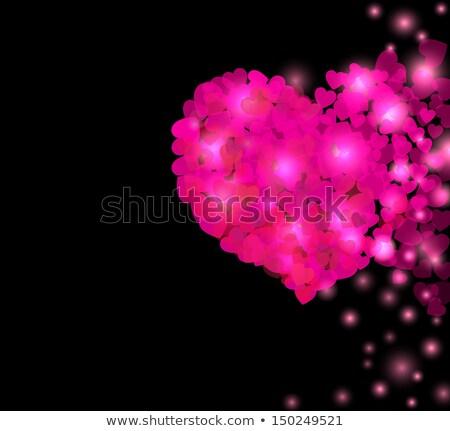 Szív alak textúra piros minta dekoráció szimbólum Stock fotó © rioillustrator
