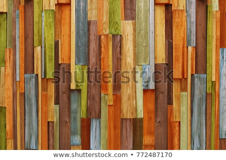 colorful wooden fence Stock photo © antonihalim