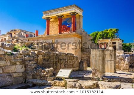 palota · részlet · ősi · retro · fal · festmény - stock fotó © imaster