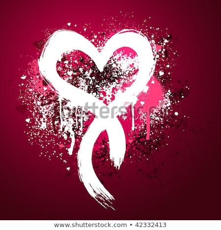 Criador valentine grunge grafite coração agitar-se Foto stock © hasloo