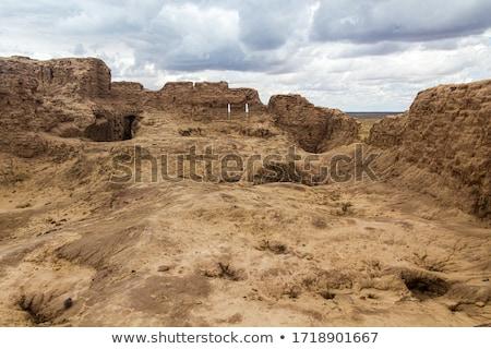 Ruina desierto abandonado casa ciudad muerta ventana Foto stock © dirkr