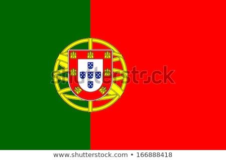 Portugália · zászló · ikon · izolált · fehér · terv - stock fotó © zeffss