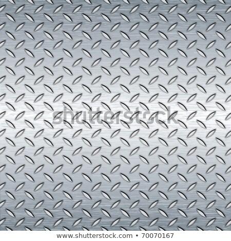diamantes · placa · textura · de · metal · enorme · hoja · metal - foto stock © tashatuvango