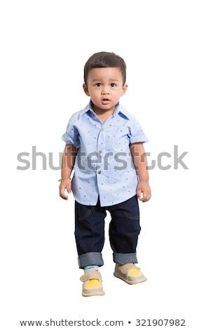 Geïsoleerd vloer baby kruipen witte Stockfoto © gewoldi