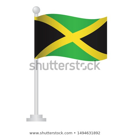 Jamaica Small Flag on a Map Background. Stock photo © tashatuvango