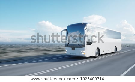 White Bus in Summer Stock photo © tainasohlman